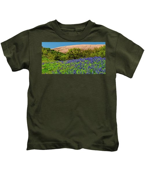 Texas Bluebonnets And Enchanted Rock 2016 Kids T-Shirt