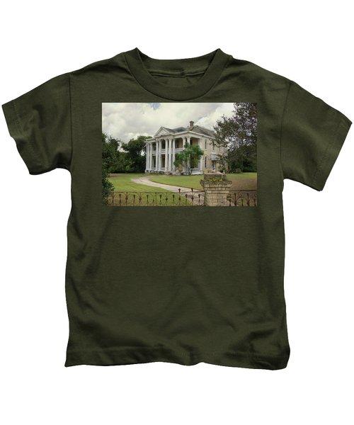Texas Mansion In Ruin Kids T-Shirt
