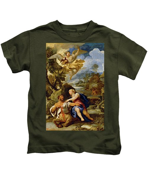 'the Death Of Centaur Nessus', Ca. 1697, Italian School, Oil On Canvas, 114 Cm X... Kids T-Shirt