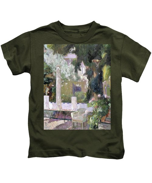 The Gardens At The Sorolla Family House - Digital Remastered Edition Kids T-Shirt