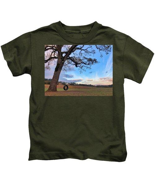 Tire Swing Tree Kids T-Shirt