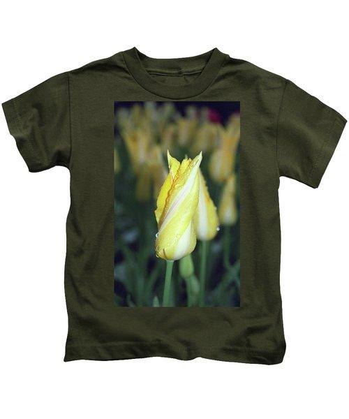 Twisted Yellow Tulip Kids T-Shirt