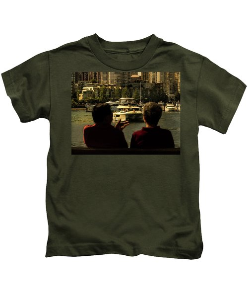 Two Friends At The Vancouver Bay Kids T-Shirt