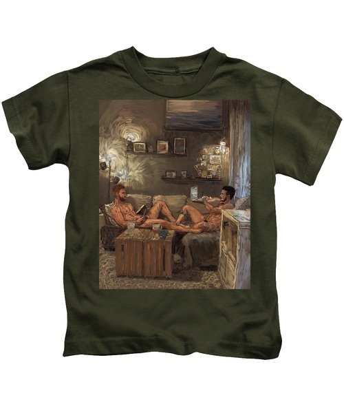 Two Guys One Couch Kids T-Shirt
