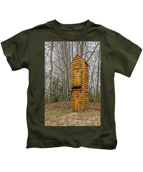 Two-story Outhouse For Voters And Politicians Kids T-Shirt