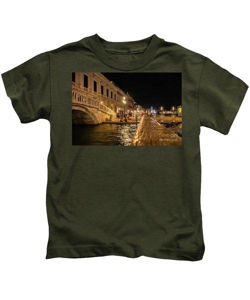 Venice At Night. San Marco Kids T-Shirt