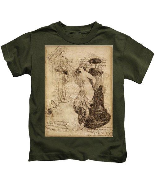 Venus Weigh Cupid Kids T-Shirt
