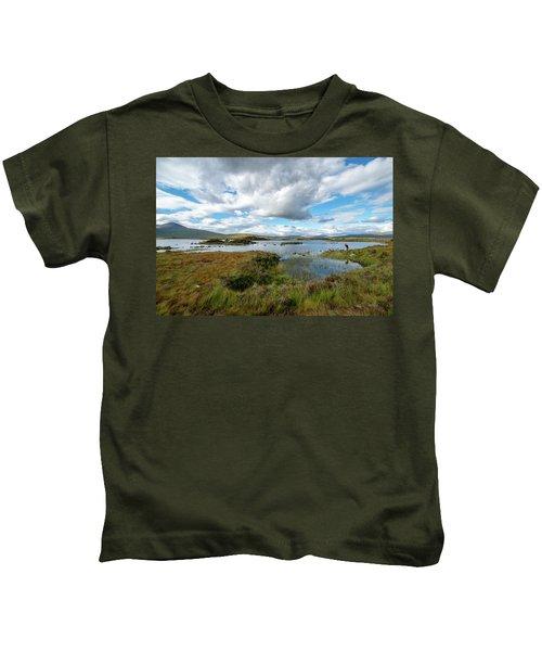 View In Glencoe, Scotland Kids T-Shirt