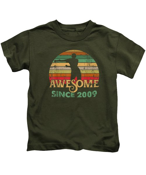 Vintage Flossing Awesome Since 2009 10th Yrs Birthday Gifts Kids T-Shirt