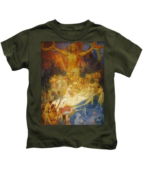 Vintage Poster - The Slav Epic Cycle No. 20 Kids T-Shirt