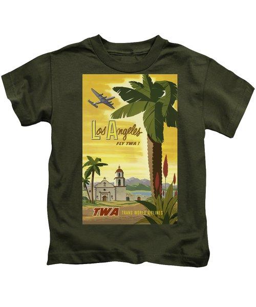 Vintage Travel Poster - Los Angeles Kids T-Shirt
