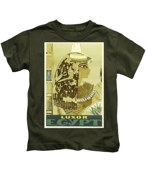 Vintage Travel Poster - Luxor, Egypt Kids T-Shirt