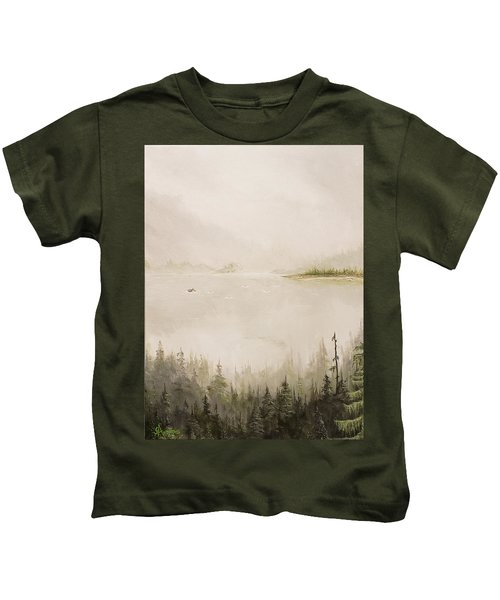 Waiting For The Eagle To Come Kids T-Shirt