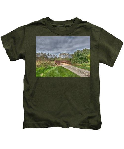 Walnut Woods Bridge - 2 Kids T-Shirt
