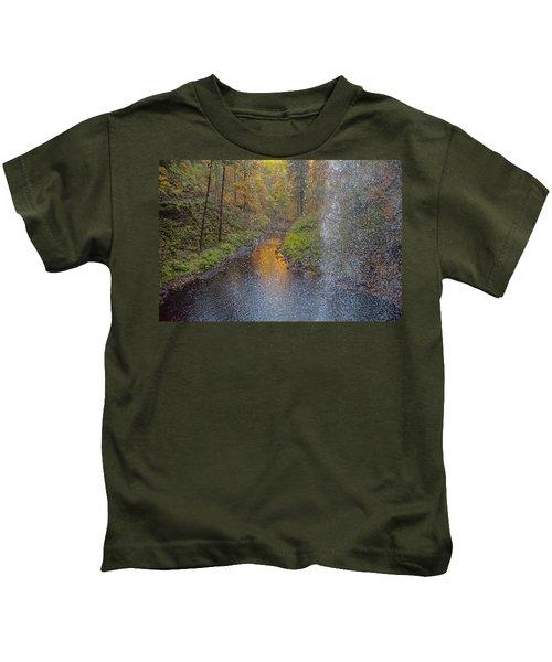 Waterfall Waterdrops Kids T-Shirt