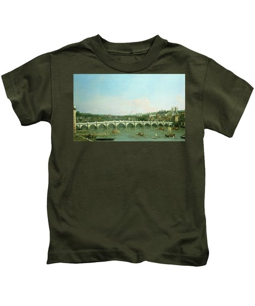 Westminster Bridge From The North With Lambeth Palace In Distance Kids T-Shirt