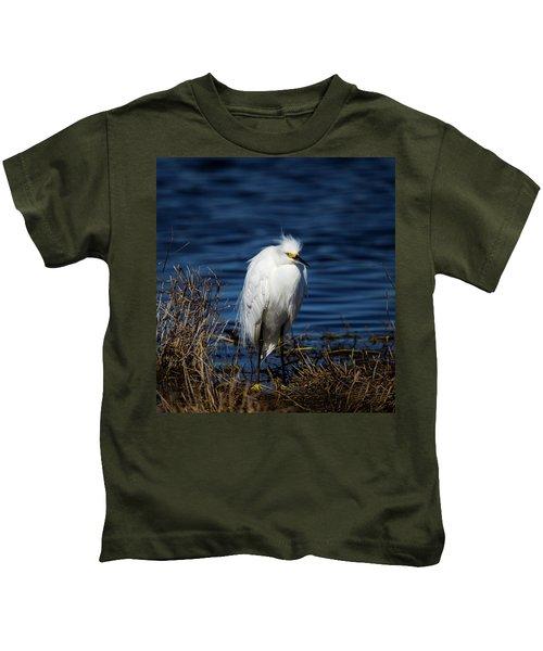White Egret Kids T-Shirt