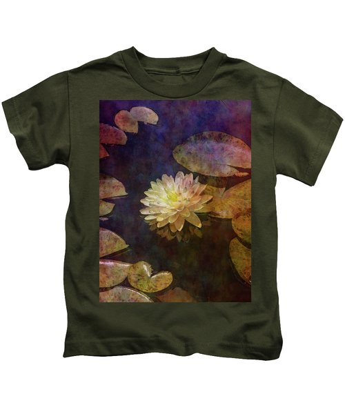 White Lotus Lily Pond 2938 Idp_2 Kids T-Shirt