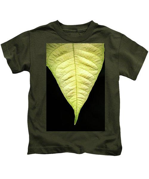 White Poinsettia Leaf Kids T-Shirt