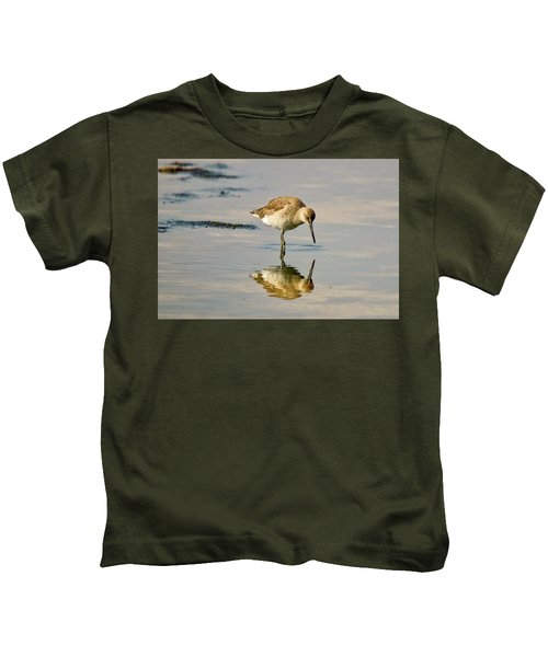 Willet Sees Its Reflection Kids T-Shirt