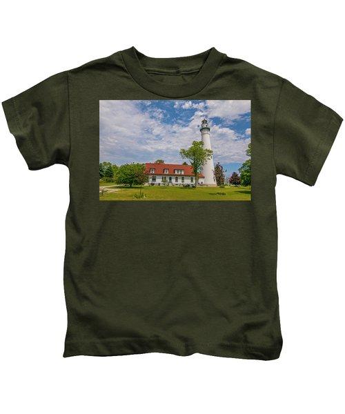 Wind Point Lighthouse  Kids T-Shirt