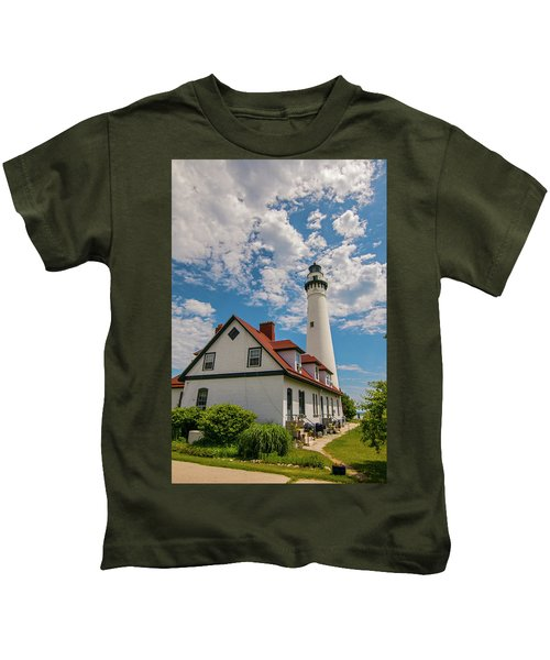 Wind Point Lighthouse No. 2 Kids T-Shirt