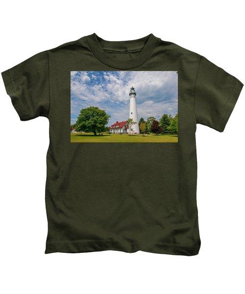 Wind Point Lighthouse No 3 Kids T-Shirt