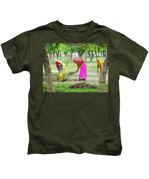Woman In The Garden Kids T-Shirt