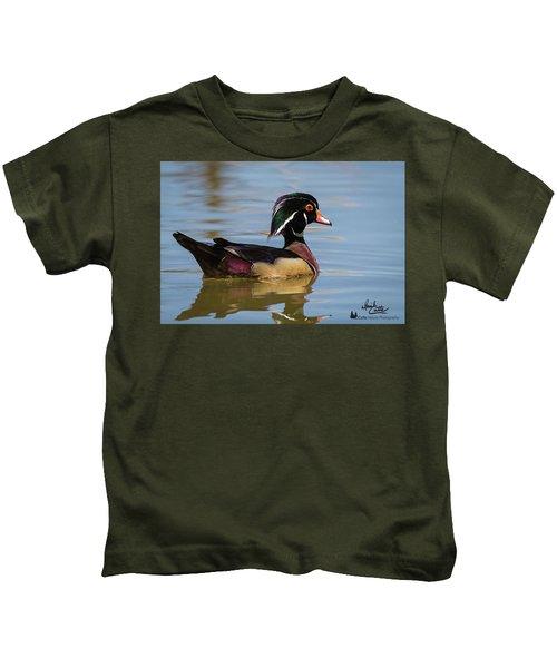 Wood Duck In Dallas Kids T-Shirt