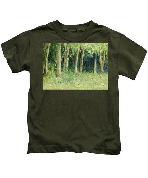 Woodland Tree Line Kids T-Shirt