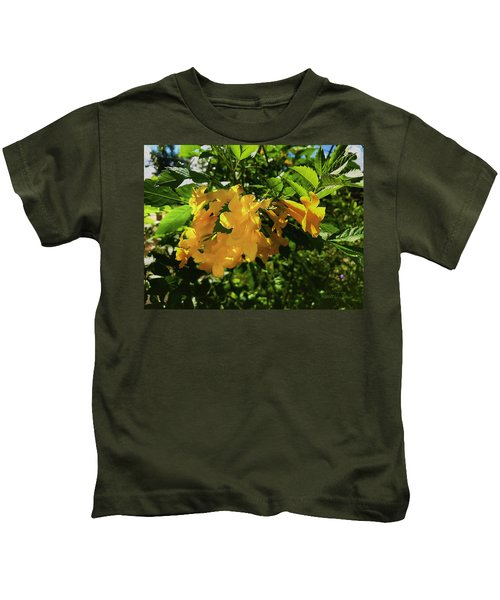 Yellow Bells - Sun And Shade Kids T-Shirt