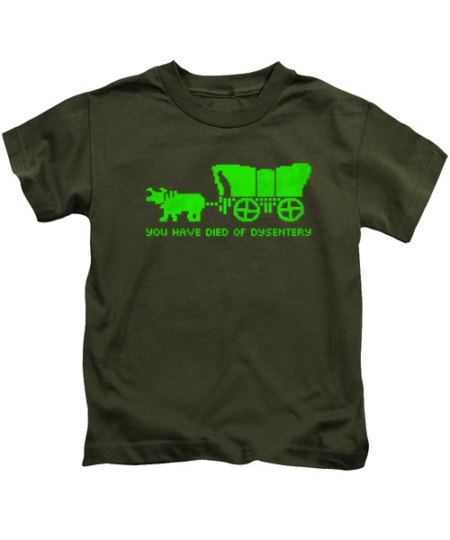 You Have Died Of Dysentery Oregon Trail Video Game Parody Kids T-Shirt