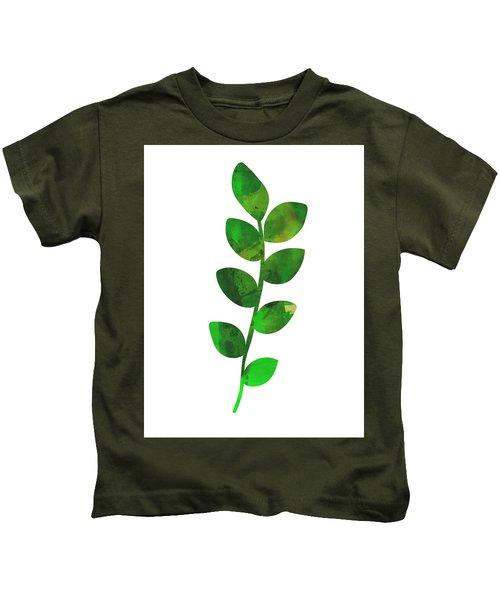 Zamioculcas Leaf Kids T-Shirt