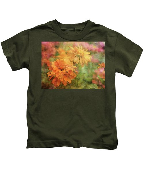 Zinnias 3063 Idp_2 Kids T-Shirt