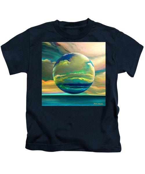 Clouding The Poets Eye Kids T-Shirt