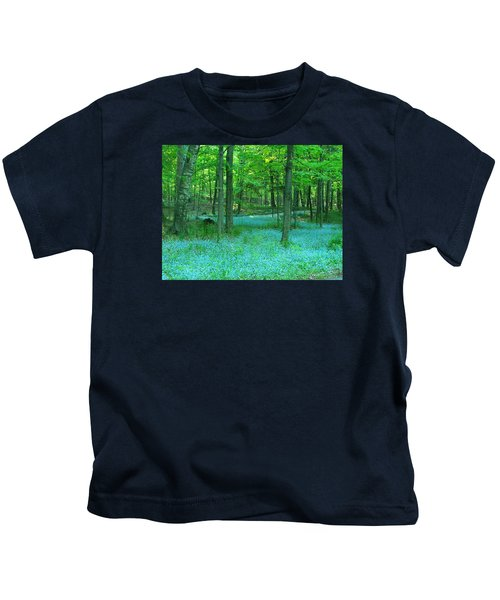 Forget-me-nots In Peninsula State Park Kids T-Shirt