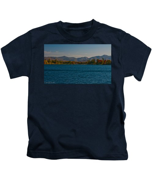 Lake Placid And The Adirondack Mountain Range Kids T-Shirt