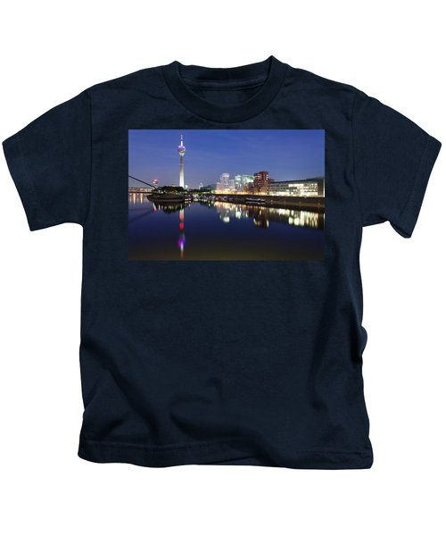 Rheinturm Tower And Gehry Buildings Kids T-Shirt