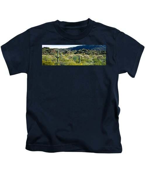 Saguaro Cactus Carnegiea Gigantea Kids T-Shirt