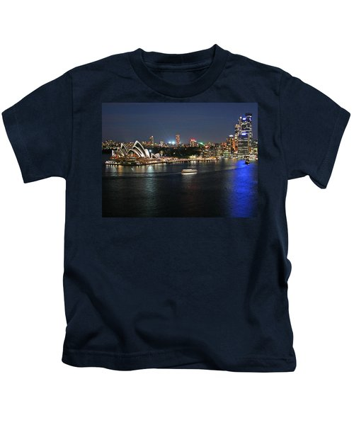 Sydney Harbor At Circular Quay Kids T-Shirt by Ellen Henneke