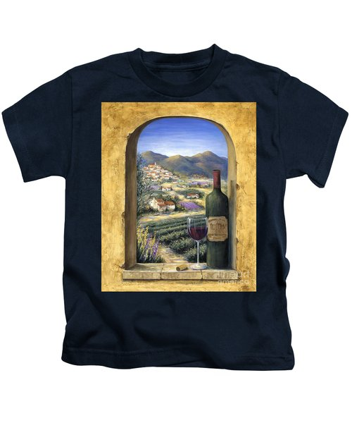 Wine And Lavender Kids T-Shirt
