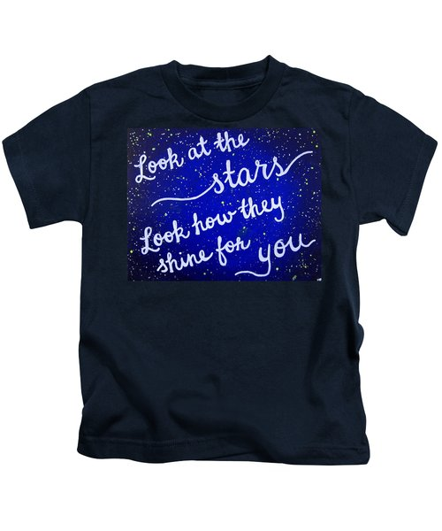 11x14 Look At The Stars Kids T-Shirt by Michelle Eshleman