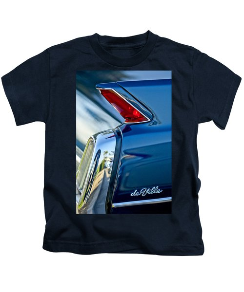 Kids T-Shirt featuring the photograph 1962 Cadillac Deville Taillight by Jill Reger