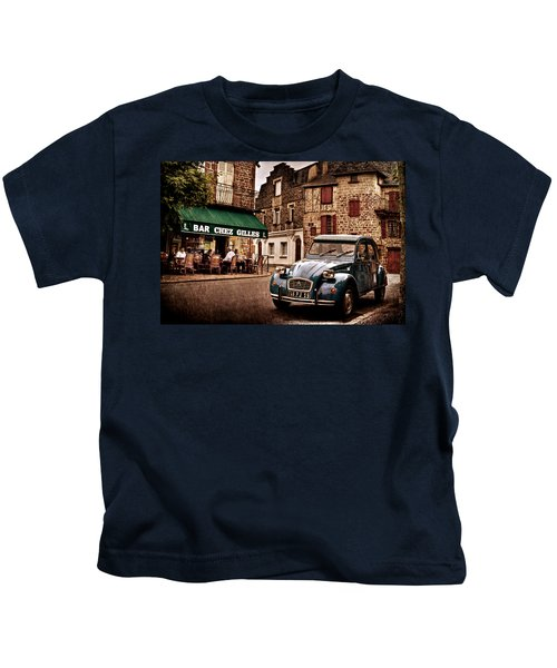 Citroen 2cv In French Village / Meyssac Kids T-Shirt