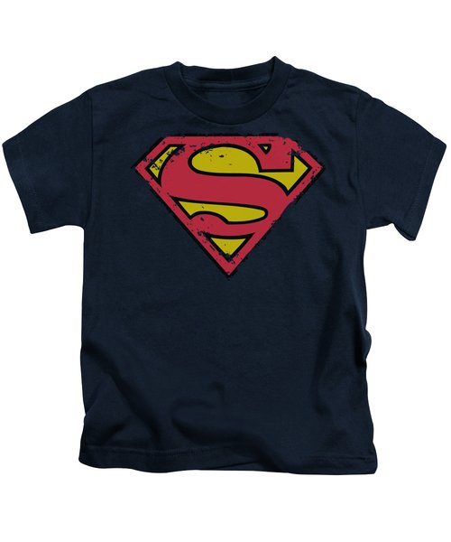 Superman - Distressed Shield Kids T-Shirt