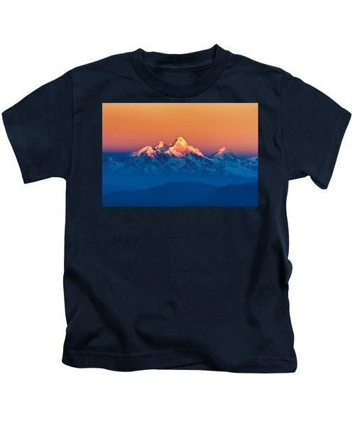 Himalayan Mountains View From Mt. Shivapuri Kids T-Shirt