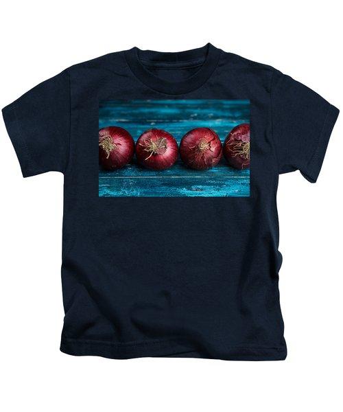 Red Onions Kids T-Shirt by Nailia Schwarz