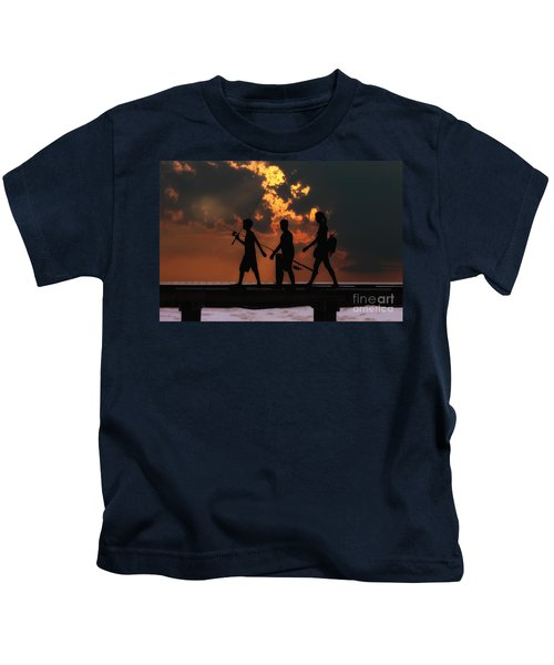 A Fishing We Will Go Kids T-Shirt