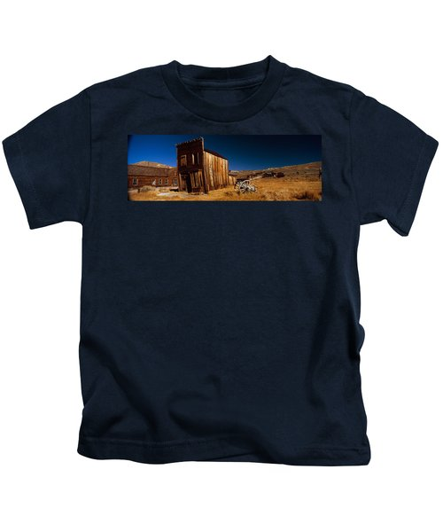 Abandoned Buildings On A Landscape Kids T-Shirt