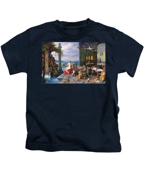 Allegory Of Music Oil On Canvas Kids T-Shirt